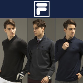 [FILA][남성] 17 F/W 옵티마웜 기모 골프티셔츠 3종