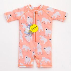 [요바프]일체형 핑크곰 아동 래쉬가드