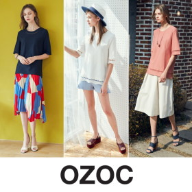 OZOC 크로셰 레이스 블라우스 3PCS